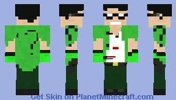 The Riddler arkham Knight 1.8 Minecraft Skin
