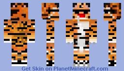 Derpy Tiger in Sunglasses (My friend tiger44445's Skin) Minecraft Skin
