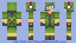 The Green Gamer Skin Remastered (REQUESTED) Minecraft Skin