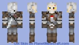 Geralt of Rivia | The White Wolf [{TW3]}] Minecraft Skin