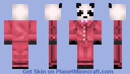 Panda In  A Pink Suit