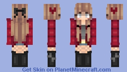 Cute and Comfy -naughty♥- Minecraft Skin