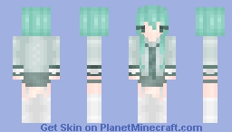 teal or green, maybe? ~ Minecraft Skin