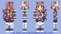 shoot for the moon Minecraft Skin