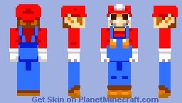 Mario Sprite- *Let's Skin* Minecraft Skin