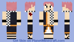 Natsu Dragneel [Fairy Tail Skin] Minecraft Skin