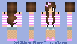 Pretty Brunette Minecraft Skin