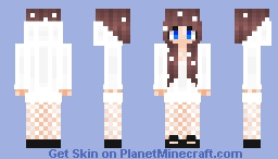 Snow Theme Girl Without Headphones Minecraft Skin