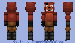 FNaF World Foxy (Remastered) (With bandage in desc.) Minecraft Skin