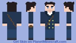 [Doctor Who] 8th Doctor (Dark Eyes) Minecraft Skin