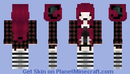~Girl with horns~ Minecraft Skin