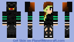 Me! || (I was showing my little sister how to upload skins :P)
