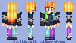 Original Character: Sweet Toxic [Adopted by KitKat] Minecraft Skin