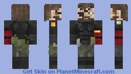 Big Boss AKA Snake - Metal Gear Solid V - The Phantom Pain - sneaking suit - cooler in 3D model [1.8+] + 4 additional skin variations Minecraft Skin