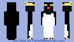 Erect crested penguin Minecraft Skin