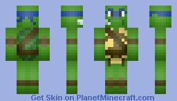 Leonardo TMNT Minecraft Skin
