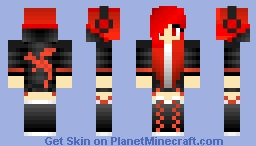 Red Girl Minecraft Skin