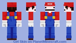 Bubzio || Mario & Bubz || Contest Minecraft Skin