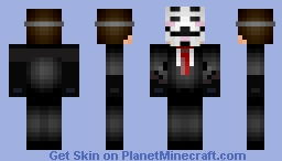 ANONYMOUS (HACKER) Minecraft Skin