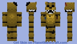 FNaF 2 Old Golden Freddy (Halloween Skin) Minecraft