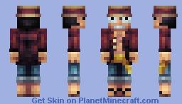 Monkey D. Luffy - One Piece Minecraft Skin