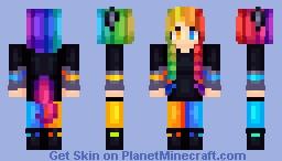 NeonNightTail Minecraft Skin