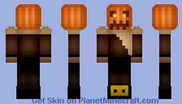 Pumpkin Scarecrow Minecraft Skin
