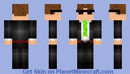 Annasmelly the Secret Agent Minecraft Skin