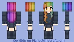 Rainbow Hair! :3 Minecraft