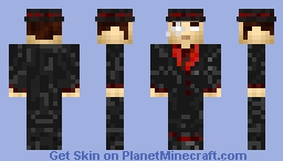The mad Baron : Gentleman Serial Killer Minecraft Skin