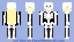 Maya in skeleton costume Minecraft Skin