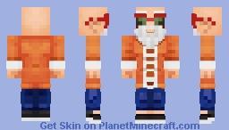 Master Roshi Minecraft Skin