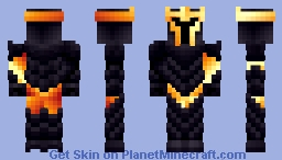 Obsidian Knight (Recolors in description) Minecraft Skin