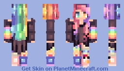★♠ค๒คภ๔๏ภ3๔гคเภ♠★ Rainbow Dancer *Better In 3D* Minecraft Skin