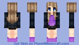 Lilac Girl Minecraft Skin