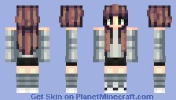 Blue and More Blue? (Brown Hair) Minecraft Skin
