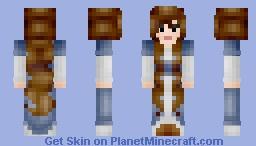 Sprucin' Things Up: Brunette Princess Minecraft Skin