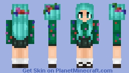 ēɍℇṃō ~Flower Power~ (reshaded and edited, before and after in desc) Minecraft Skin