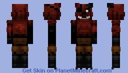 FNaF World Phantom Foxy Minecraft Skin