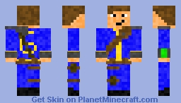 Fallout: Armored Vault 6 Suit Minecraft Skin