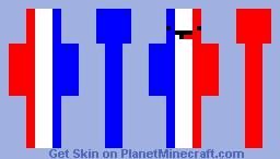Derpy French Flag #PrayForParis Minecraft Skin