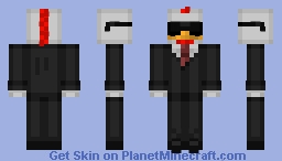 Chicken in a Tuxedo Minecraft Skin
