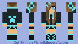 Nightcore Girl Of musical Minecraft Skin