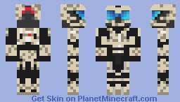 tan spartan from halo Minecraft Skin