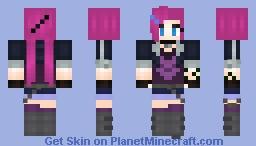 Slayer Jinx (An attempt) Minecraft Skin