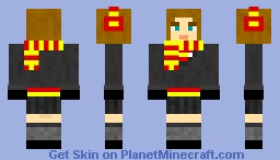 HOGWARTS SCHOOL UNIFORM - GRYFFINDOR FEMALE Minecraft Skin