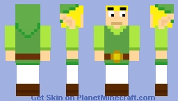 Zelda : Link  (Phantom Hourglass) Minecraft Skin