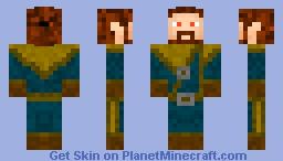 Bosmer , Elf Magician (Skyrim) Minecraft Skin