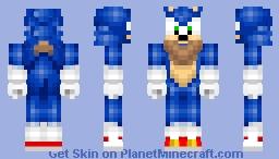 Sonic (Sonic Boom Skin Series) Minecraft Skin