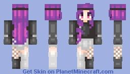 Grape Bubble Minecraft Skin